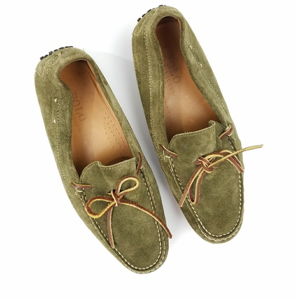 Polo Ralph Lauren Green Suede Driving Loafers. M 5aca090a5521be8473078583 3e839f3a9f7